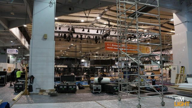 build-up at PLASA 2012
