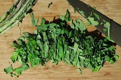 kale chiffonade