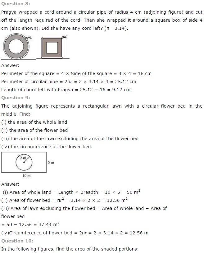NCERT Solutions for Class 7 Maths Chapter 11 Perimeter and Area