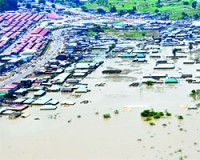Nigerian flood has prompted a response from President Jonathan who pledged to build more dams. Nigeria is Africa's most populous state. by Pan-African News Wire File Photos