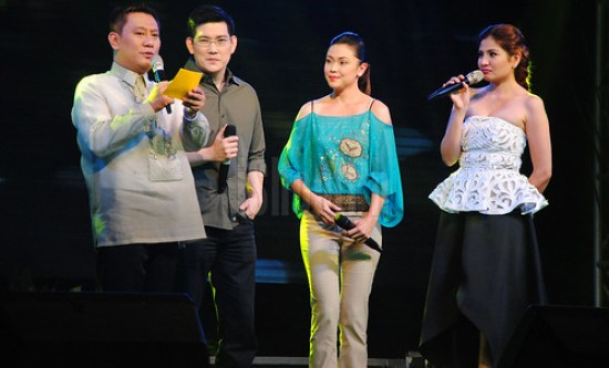 Sir Chief (Richard Yap) and Maya (Jodi Sta. Maria) of Please Be Careful With My Heart also showed their support to the Bb. Lungsod ng Batangas 2013 coronation night.