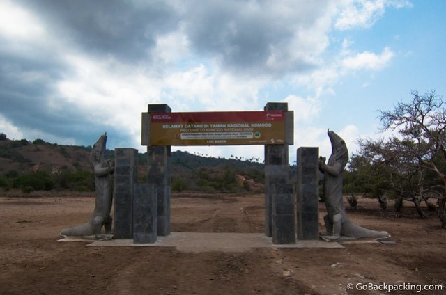 Entrance gate to Komodo National Park on Rinca Island