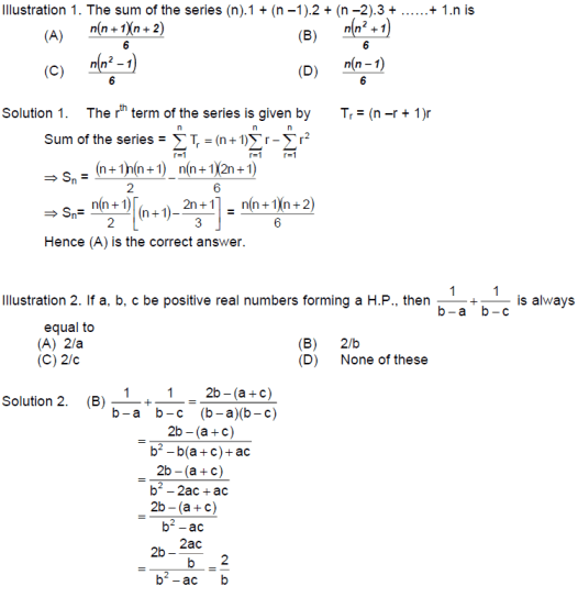 CBSE Class 11 Maths Notes: Sequences & Series   Important Objective Questions