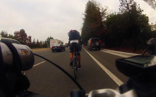 Taking the lane on San Tomas Expressway
