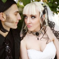Chloe & Rudy's chic goth historic mansion wedding