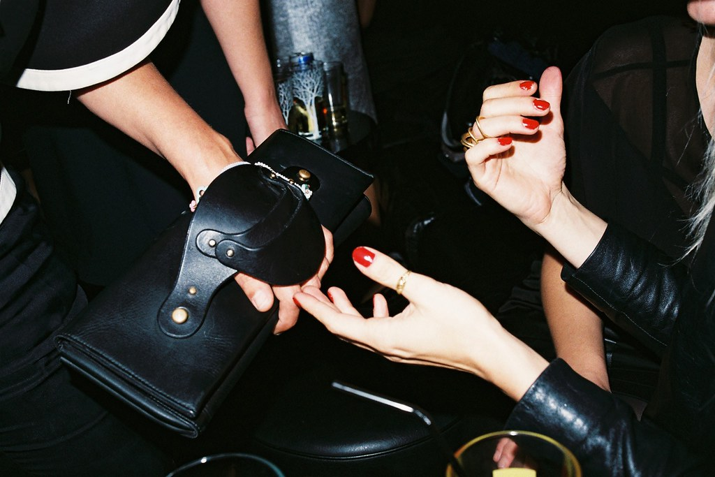 Alexandra Senes' clutch A NIGHT at Cafe de Flore and Le Montana, Paris Photo Maxime Ballesteros