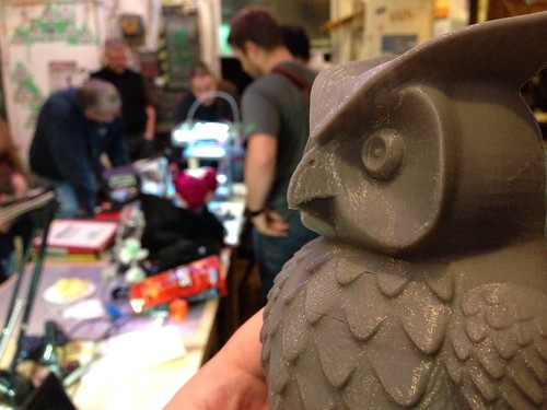 The Owl with the hole in his beak