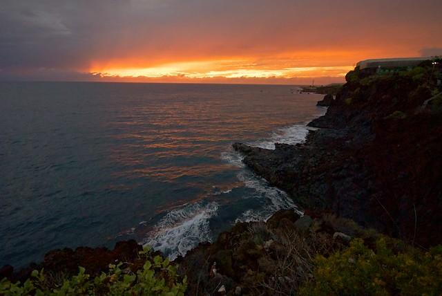 Atardecer en Puerto Naos