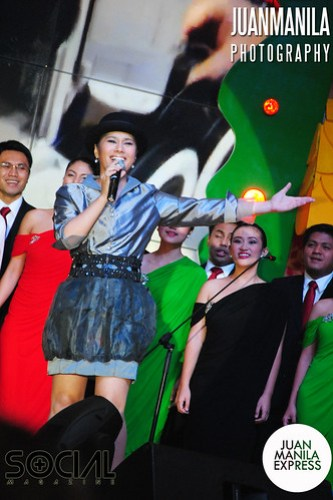 Equally talented and theater performer Isabella entertains the audience during the launching of the Grand Christmas Tree.