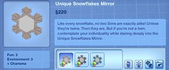 Unique Snowflakes Mirror