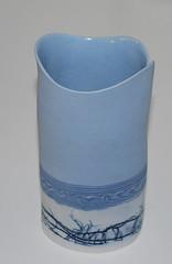 Lene Regius, Denmark, vase in porcelain