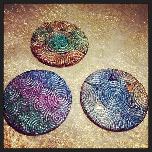 Experimenting with some coaster designs for a maybe etsy moment.
