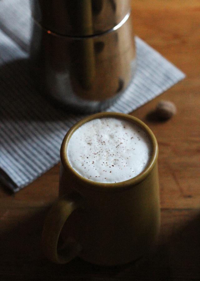 coffee with nutmeg