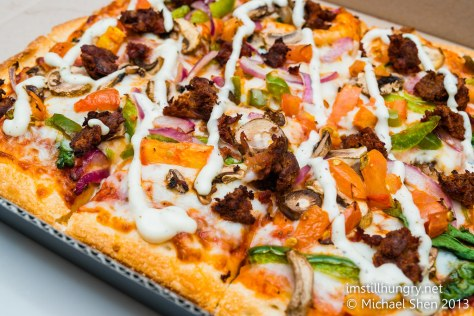 Domino's Chef's Best Shiraz Lamb Pizza w/mint yoghurt sauce