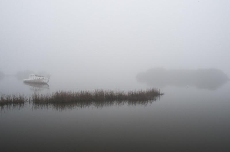 Cedar Key in the fog