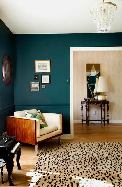 Teal Living Room Walls