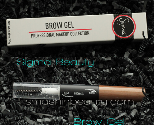 Sigma Brushes Brow Gel Swatches Review