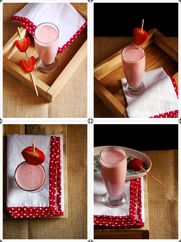 Thick & Creamy Strawberry Milkshake