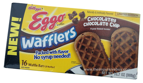 Limited Edition Eggo Chocolatey Chocolate Chip Wafflers Waffles