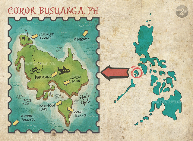 coron map two2travel