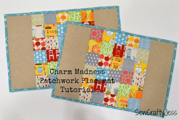 Charm Madness Patchwork Placemat Tutorial 2