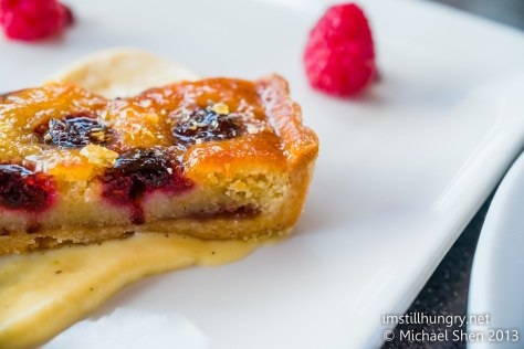 Cafe Sydney frangipane tart dessert