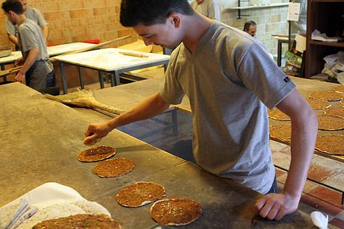 Making sandwiches at Ichkhanian