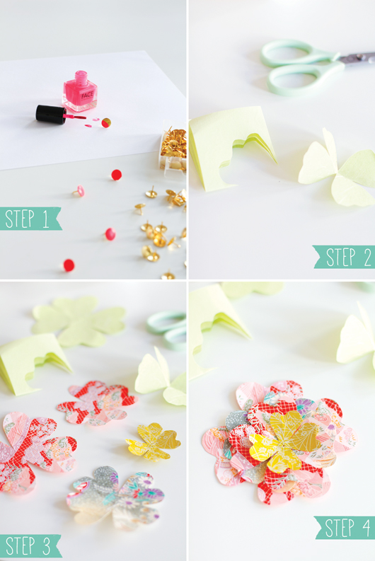 Flowers & Tacks DIY