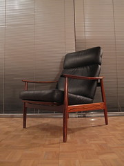 Arne Vodder Model 164 Rosewood Lounge Chair