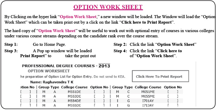 Karnataka CET 2014 Online Allotment of Seats