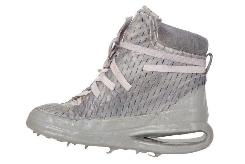 Carol Christian Poell - Sneakers One Piece Laceable Dripped U Sole Sneakers in grey
