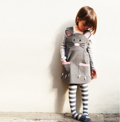 Gray Girls Mouse Dress Kids