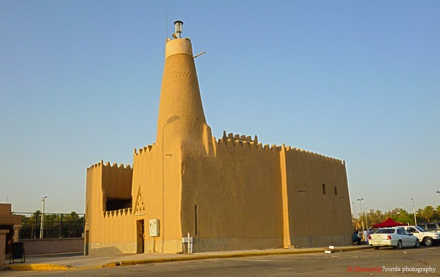 yellow mosque at Al Qaseem