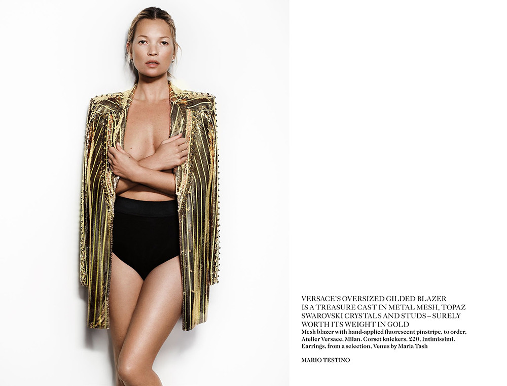 Kate Moss Vogue UK May by Mario Testino