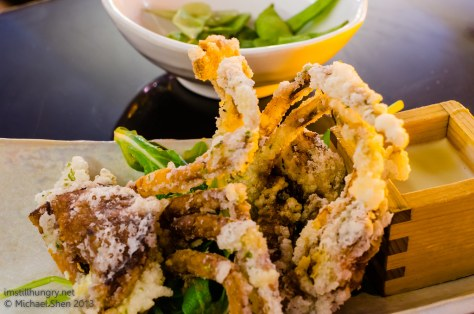 Tokonoma deep fried soft-shell crab