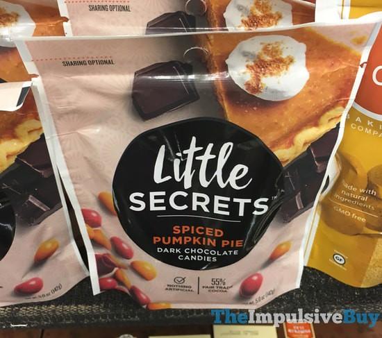 Little Secrets Spiced Pumpkin Pie Dark Chocolate Candies