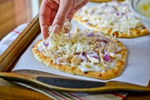 Roasted Garlic, Chicken & Herb Flatbread Pizza-9