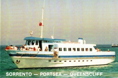 Postcard featuring Sorrento - Portsea - Queenscliff ferry 'J.J. Farnsworth'