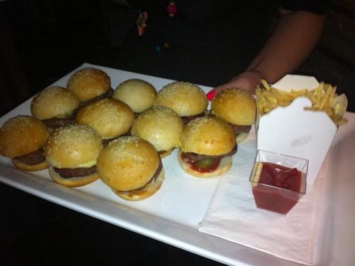 Mini Burgers at Hula Bula Bar