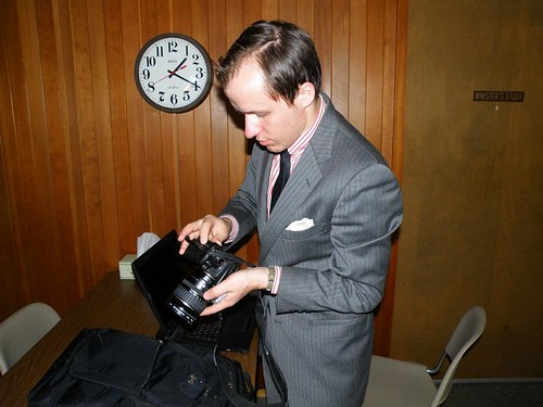 photographer preparing