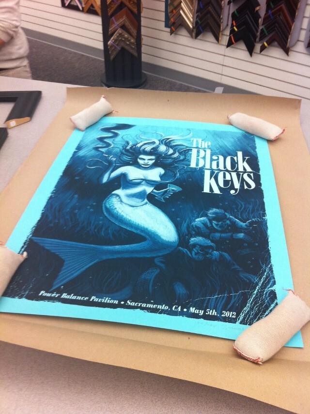 Black Keys poster for Nate