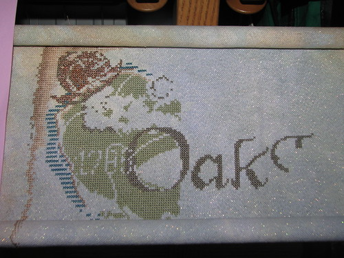 stitching Pirate Treasure progress as of May 29 2012