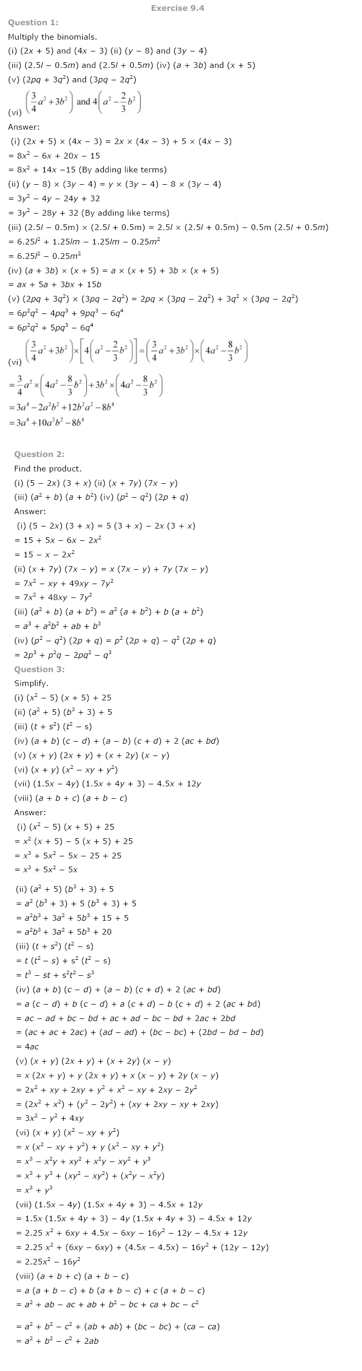 NCERT Solutions for Class 8th Maths Chapter 9 Algebraic Expressions and Identities Image by AglaSem
