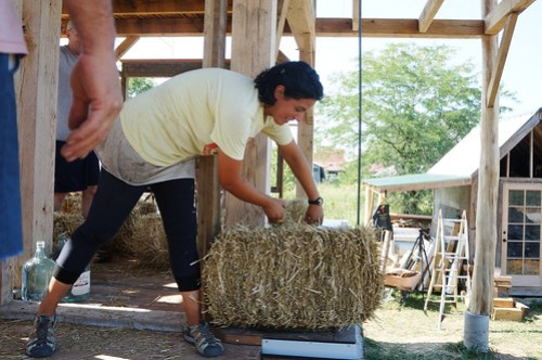 Straw Bale Workshops - First Straw Bale