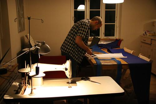 Sewing a sprayhood