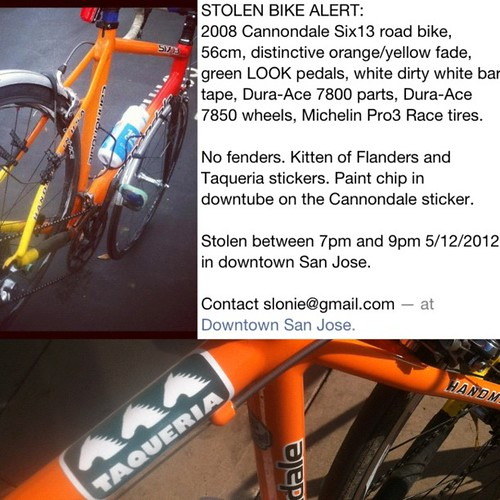 Somebody stole my Cannondale Six13