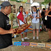 Navigator-in-Residence Kalepa Baybayan, from the University of Hawaii at Hilo's Imiloa Astronomy Center of Hawaii, teaches visitors about non-instrument navigation at the University of Hawaii tent at the Smithsonian Folklife Festival.