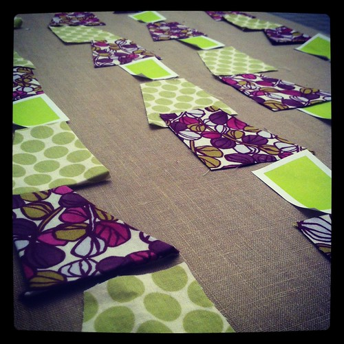 Pieces laid out and awaiting final fabric choice!