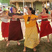 A hula workshop at the University of Hawaii tent at the Smithsonian Folklife Festival.