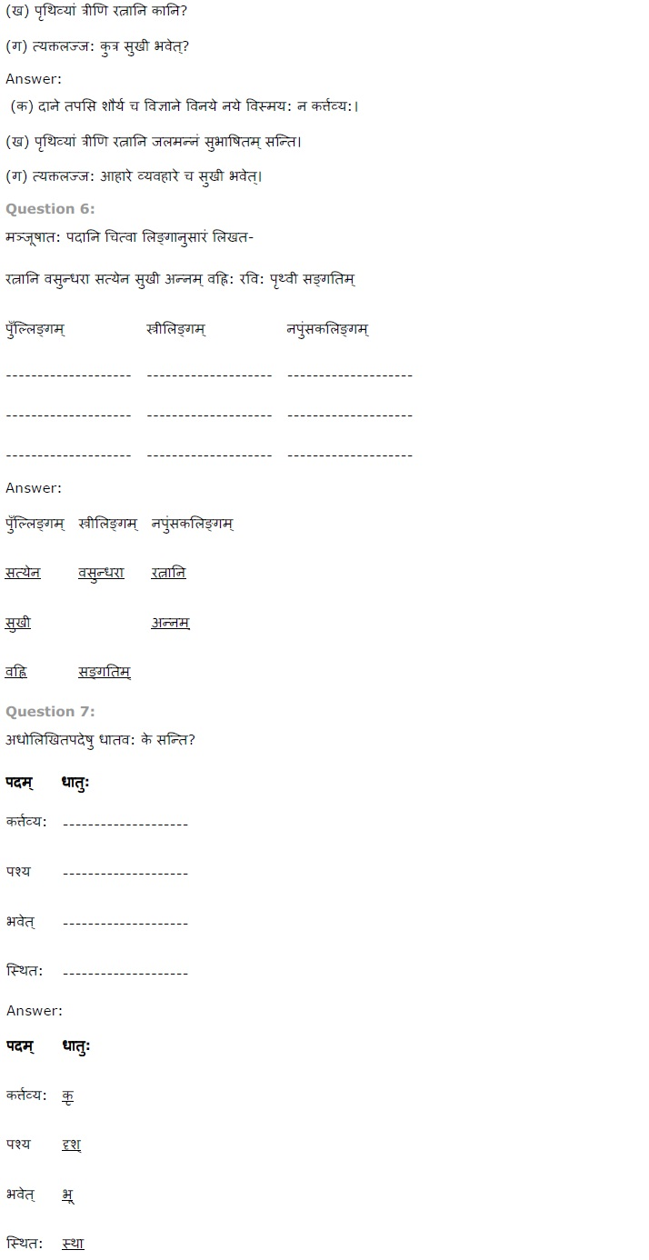 NCERT Solutions for Class 7th Sanskrit Chapter 1   सुभाषितानी Image by AglaSem